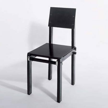 chaise militaire rietveld mobilier int rieurs. Black Bedroom Furniture Sets. Home Design Ideas