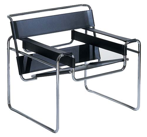fauteuil wassily de marcel breuer fabriqu dans les ateliers du bauhaus marque le d but du design. Black Bedroom Furniture Sets. Home Design Ideas